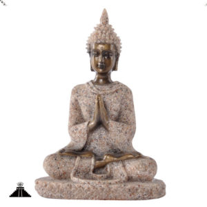 Small Sandstone Buddhist Meditation Statue