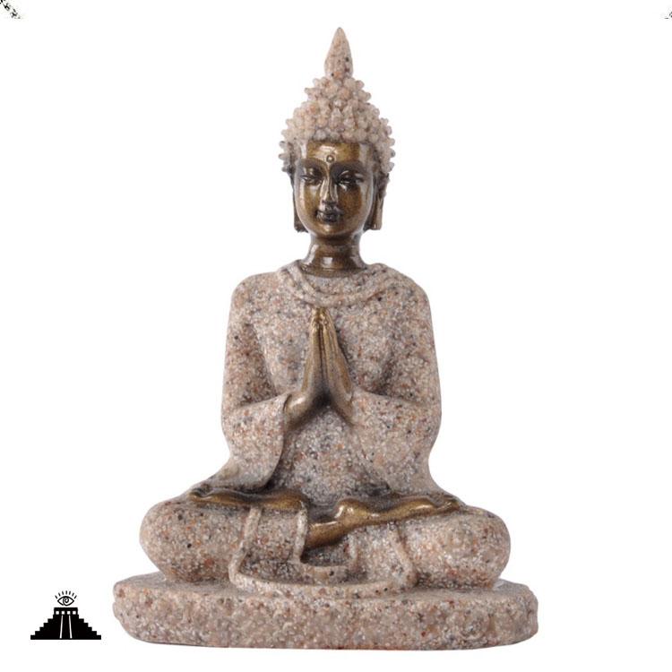 Small Sandstone Buddhist Meditation Statue